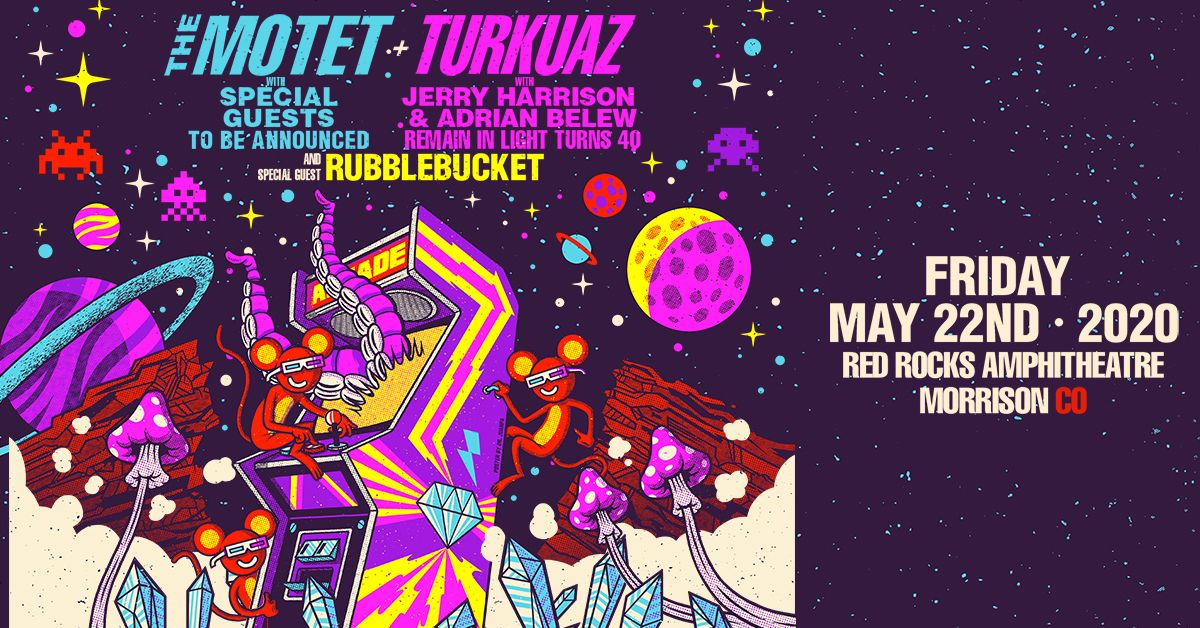 The Motet with TBD special guests and Turkuaz with Jerry Harrison and Adrian Belew – Cancelled