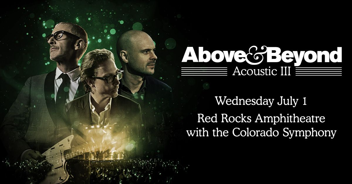 Above & Beyond Acoustic with the Colorado Symphony – Cancelled