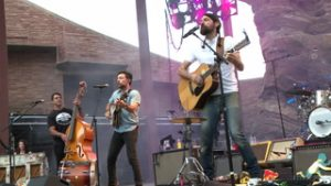 The Avett Brothers performs