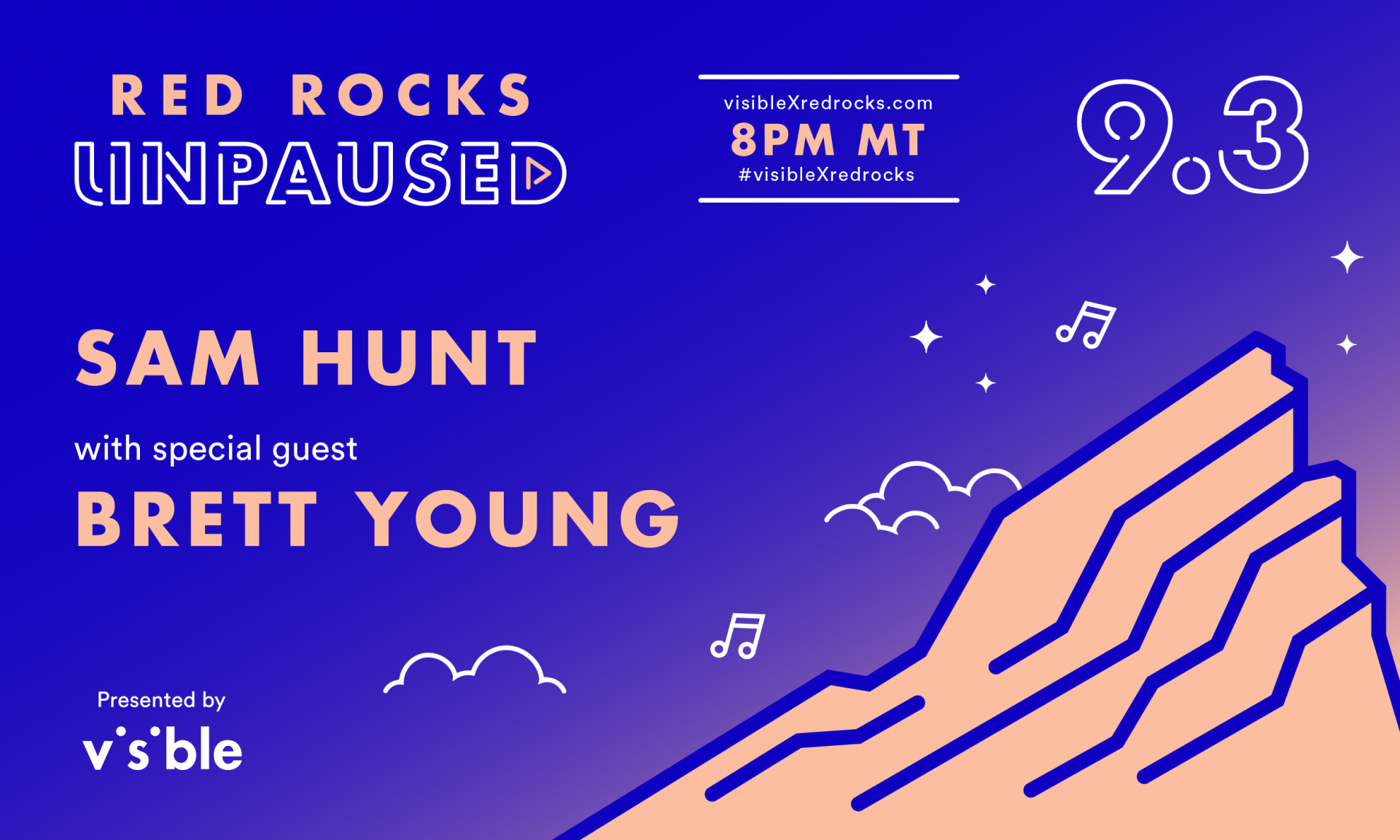 Red Rocks Unpaused Night 3: Sam Hunt with special guest Brett Young